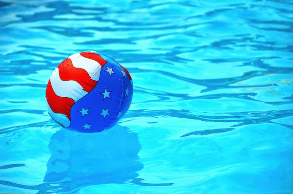 patriotic beach ball