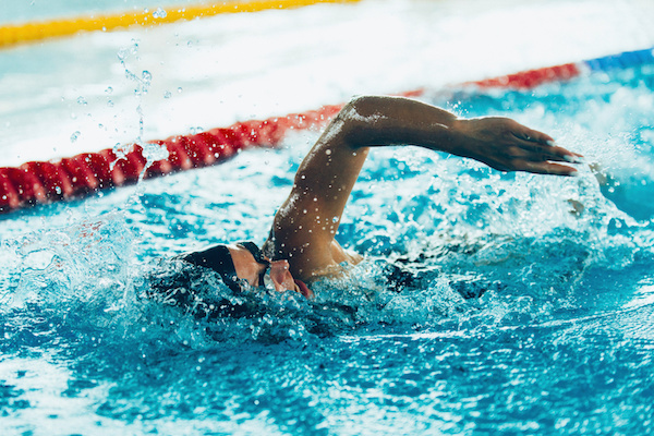 swimming competitor in action